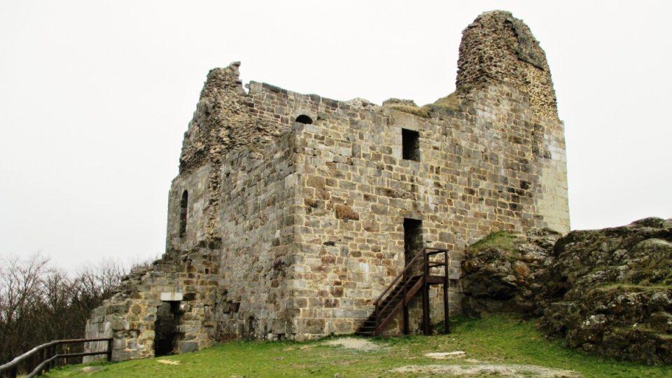 Hrad Přimda v dochovaném stavu