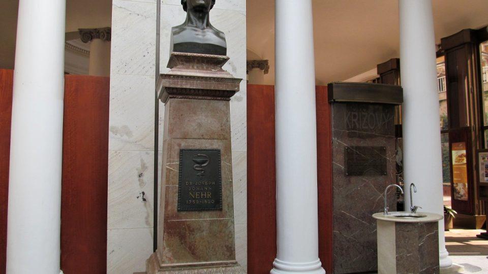 Mariánské Lázně - památník dr. Nehrovi