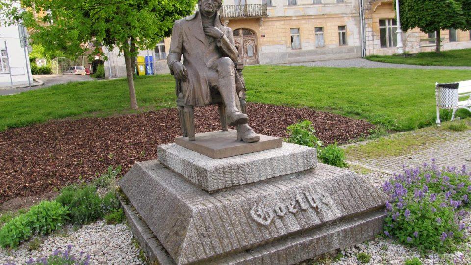 Mariánské Lázně - pomník Goethe