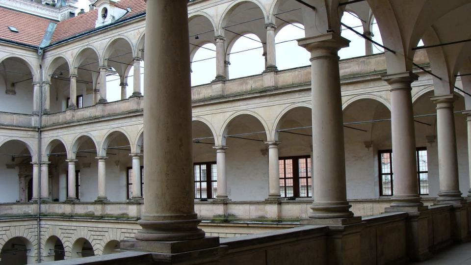 Arkády druhého nádvoří zámku