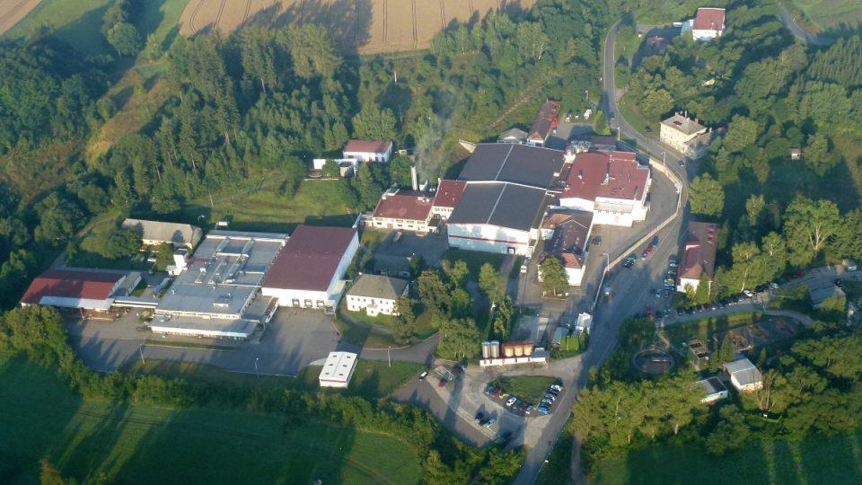 Letecký pohled na areál Hesov