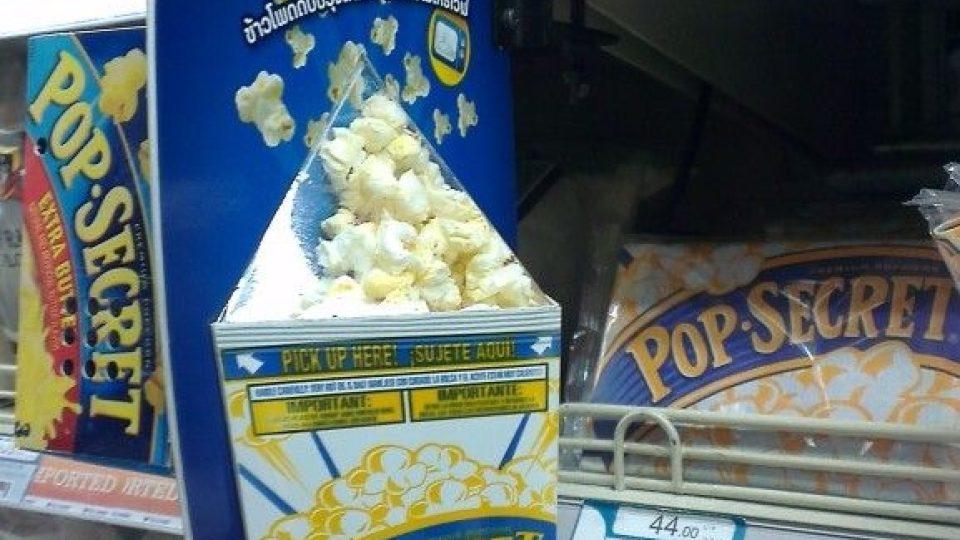 Lákavá propagace popcornu