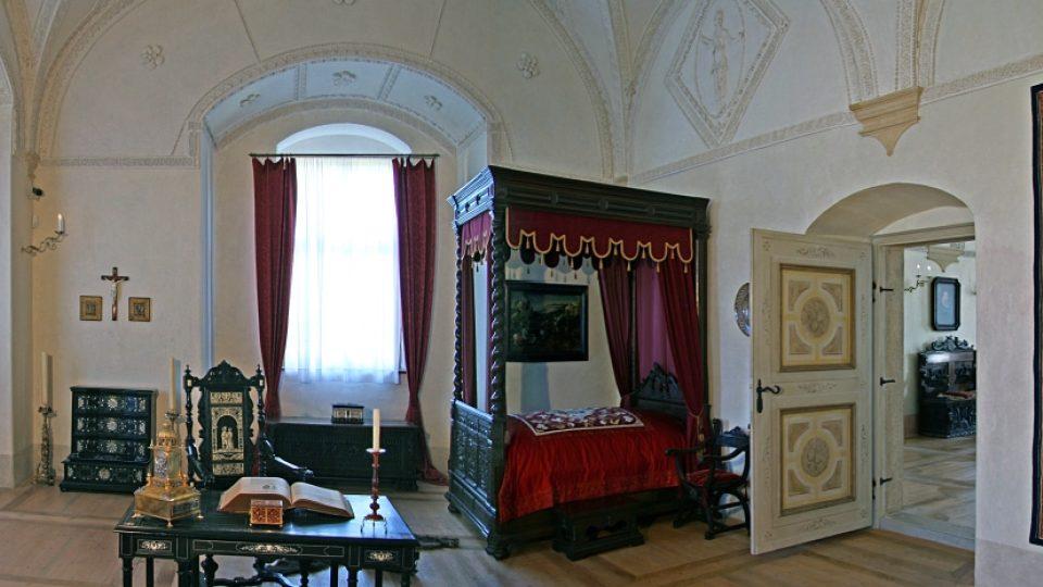 Kratochvíle - královská ložnice