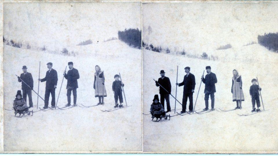 Počátky lyžování v Krkonoších