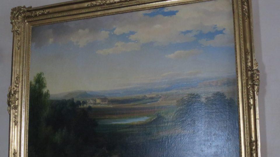 Dar od Císaře Františka I. majiteli zámku Mnichovo Hradiště. Stejný obraz daroval také ruskému carovi Mikuláši I.