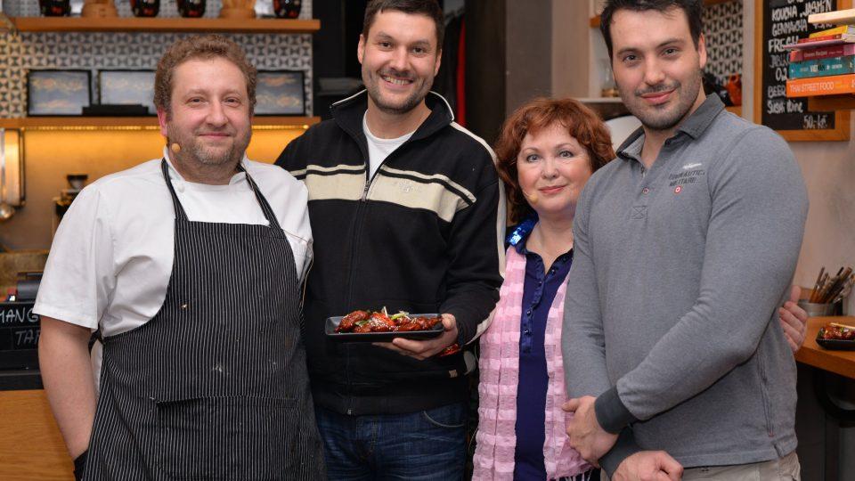 Tomáš Stehlík, Patrik Rozehnal, Naďa Konvalinková, Václav Noid Bárta