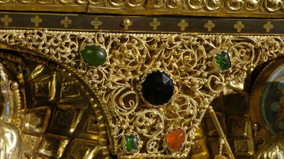 Relikviář sv. Maura (detail)