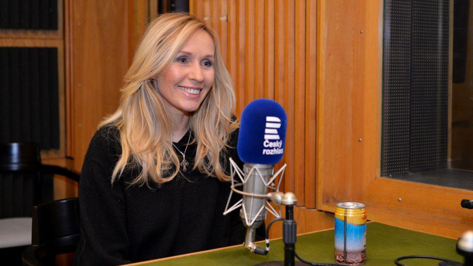 Tereza Pergnerová při natáčení