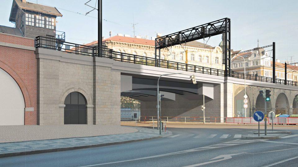 Vizualizace opravy Negrelliho viaduktu