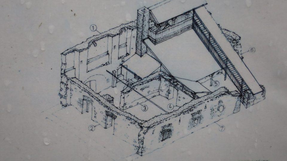 Nákres Janova hradu