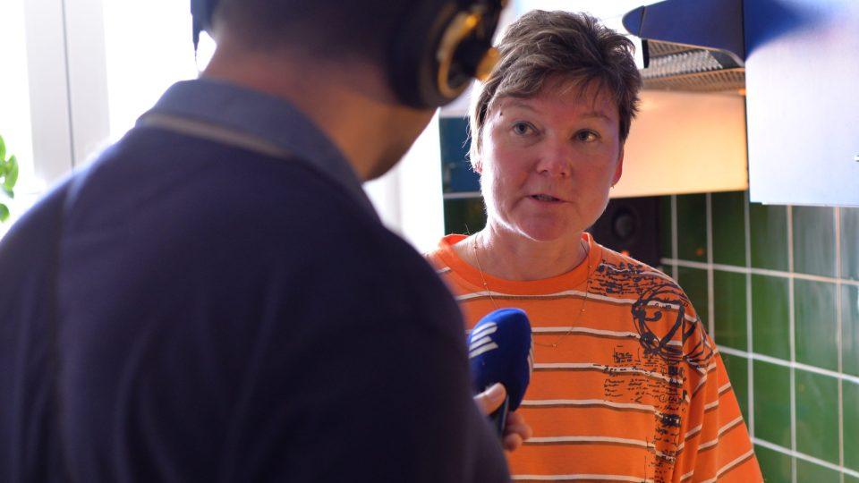 Alena Kolín při rozhovoru s Patrikem Rozehnalem