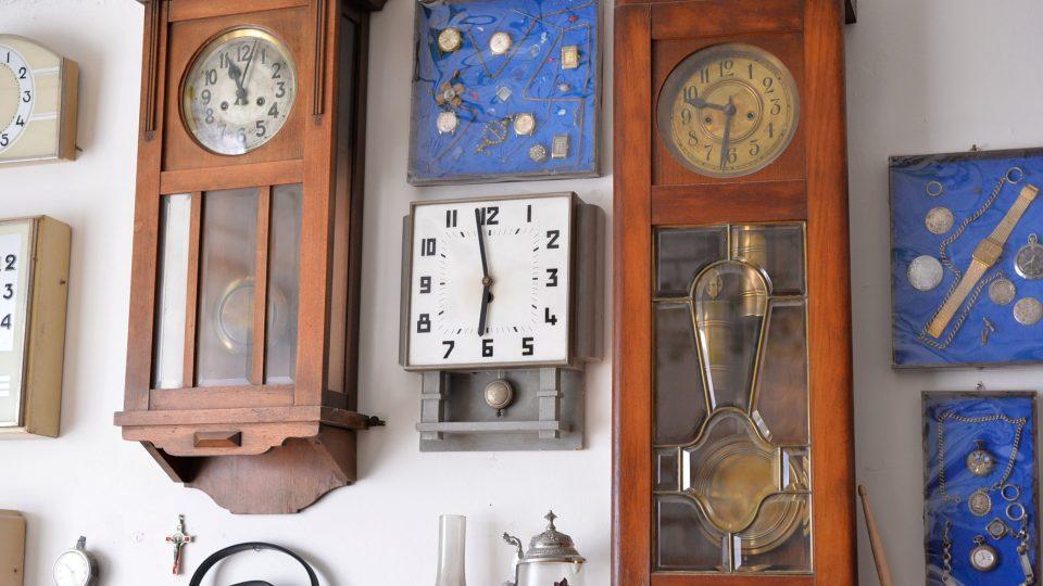 Sbírka hodin manžela Aleny Kolín