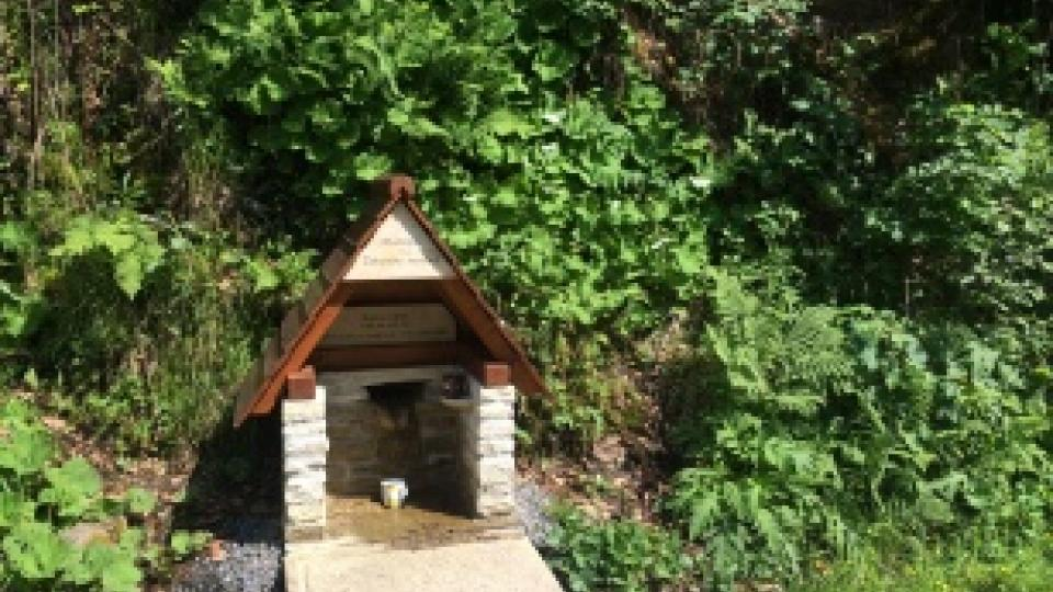 Nedaleko řeky u Hormní Čermné je také studánka