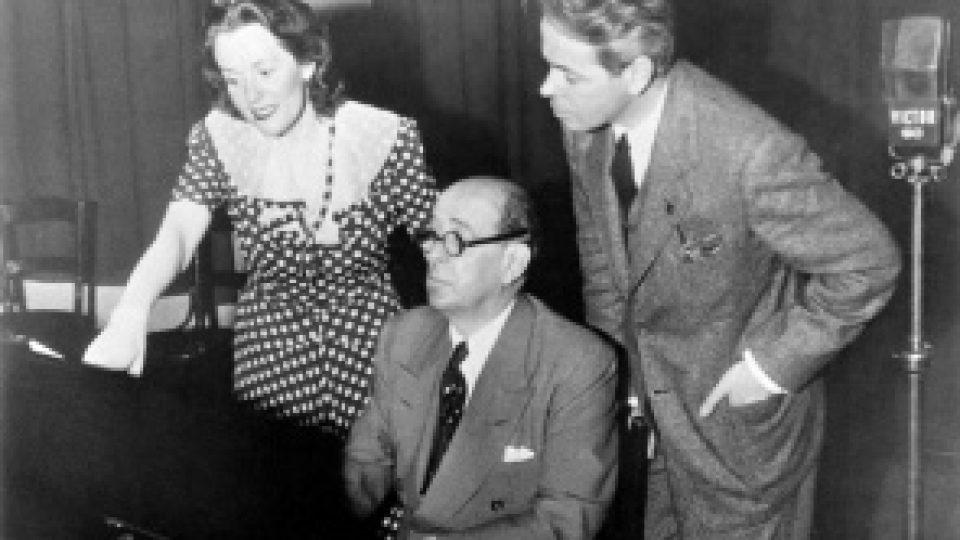 Jarmila Novotná u klavíru s Janem Masarykem