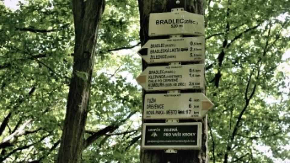 Kudy kam dál od zříceniny hradu Bradlec