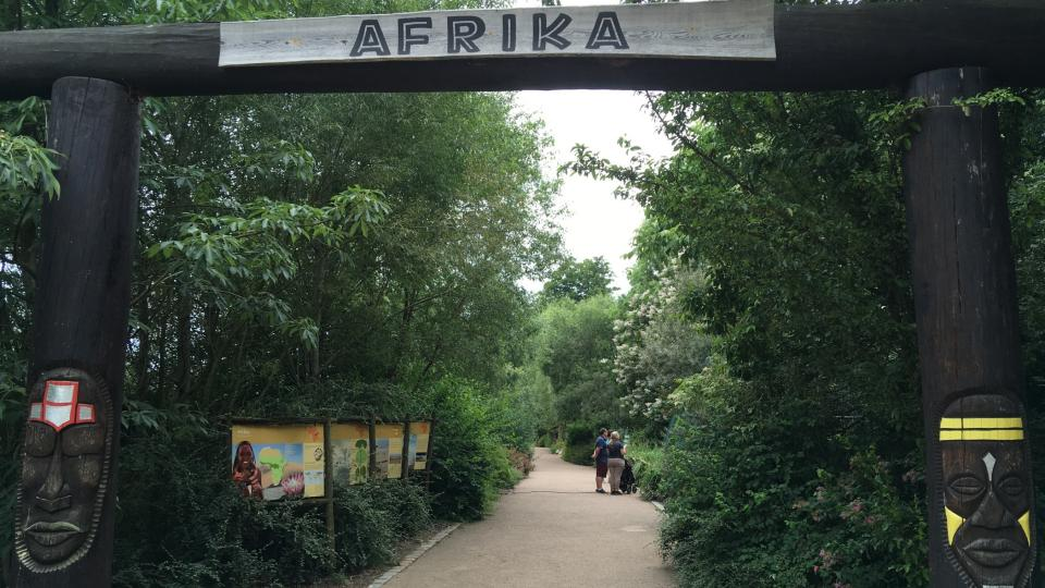 Vstup do africké části