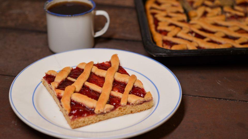 Škvarkové řezy s marmeládou