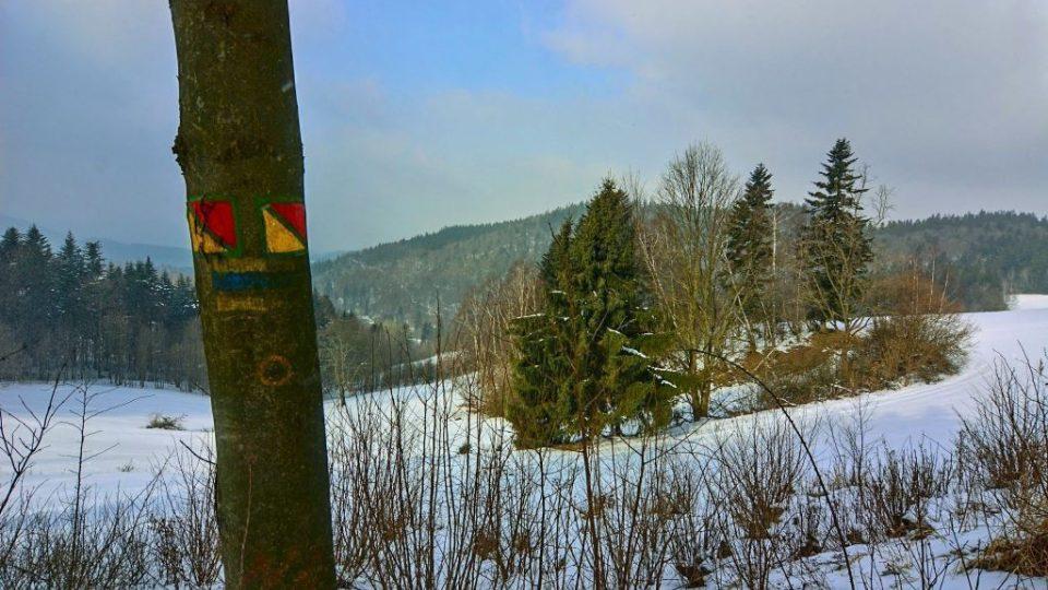 Značená stezka začíná v Pulčíně, nejvýše položené vesnici na Valašsku