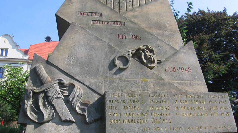 Detail sloupenského pomníku