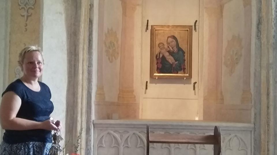 Zlatokorunskou madonu můžete spatřit v klášterní opatské kapli