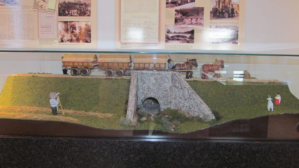Model koněspřežky, která vedla těsně vedle Velešína
