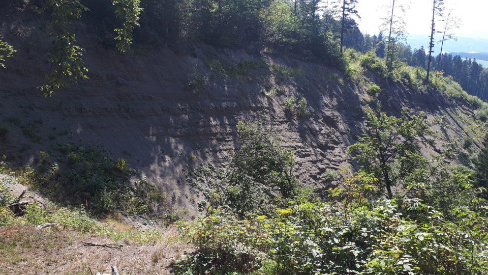 Velké deště v květnu 2010 natolik podmáčely půdu, že se svezla po skalnatém podloží do údolí