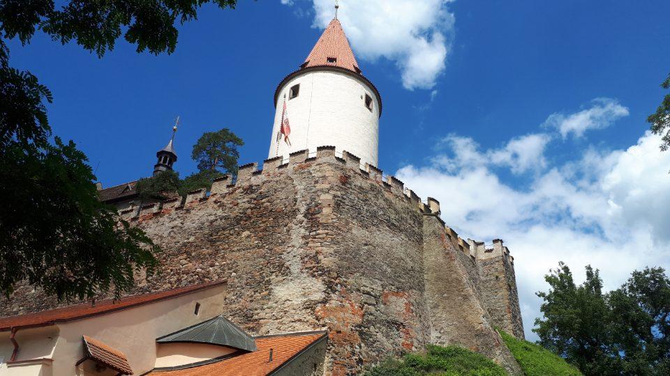 Huderka tvoří hlavní dominantu hradu Křivoklát