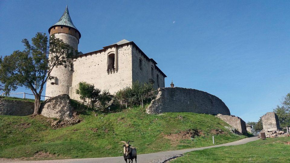 Příchod ke státnímu hradu Kunětická hora