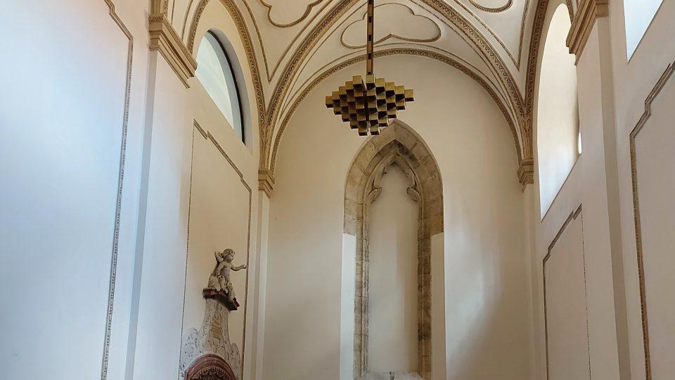 Svatojiřský klášter - kaple sv. Anny. Místo, kde je Ctihodná Mlada Přemyslovna pravděpodobně pochována