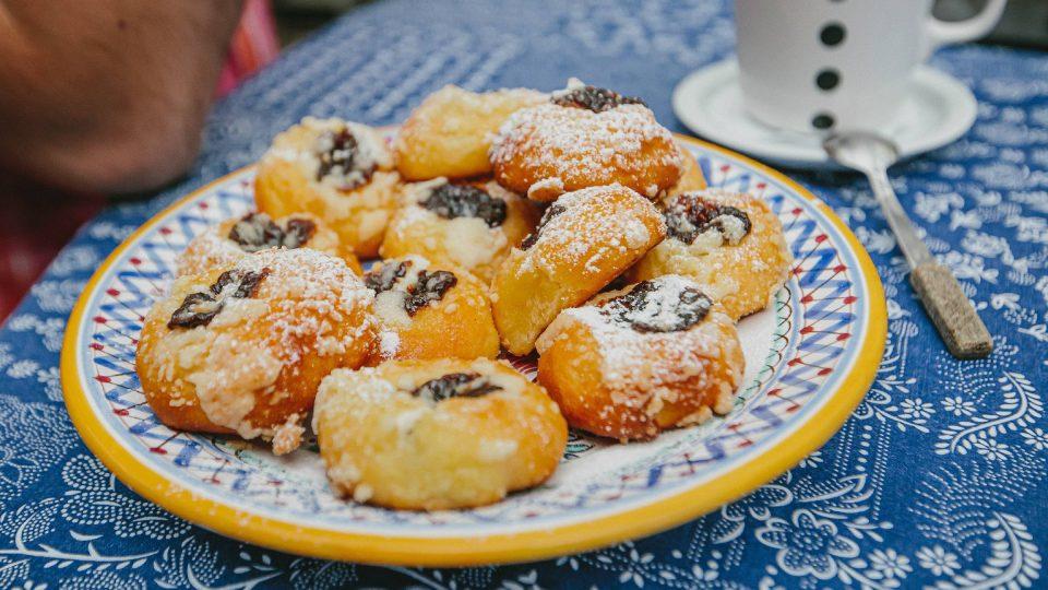 Paní Alena nás uvítala moravskými koláčky