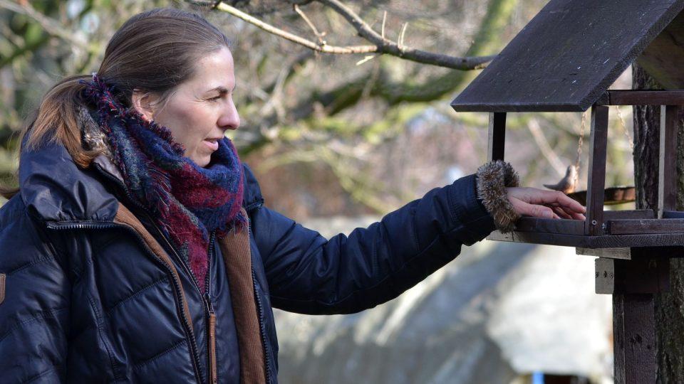 Na zahradě ve Světicích, kam přilétá přes 20 druhů ptáků