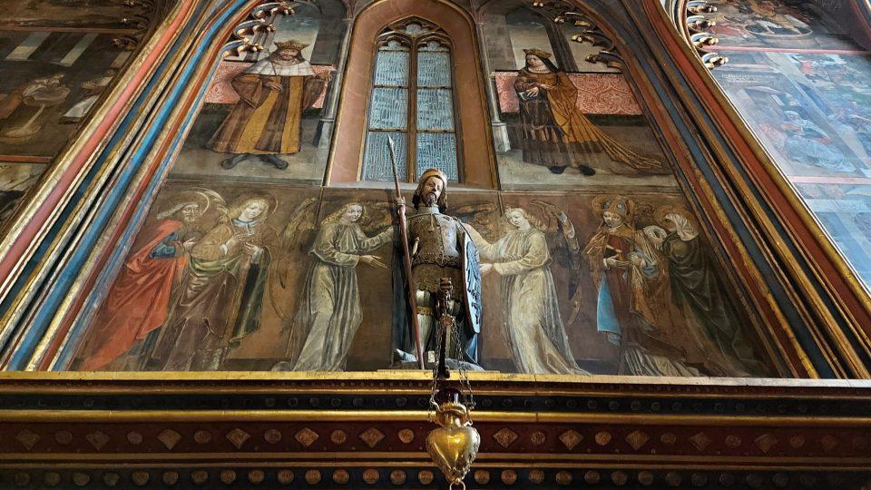 Socha sv. Václava ve Svatováclavské kapli