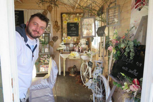 Svatební dekorace v podání Petra Kopáče | foto: Jitka Slezáková,  Český rozhlas